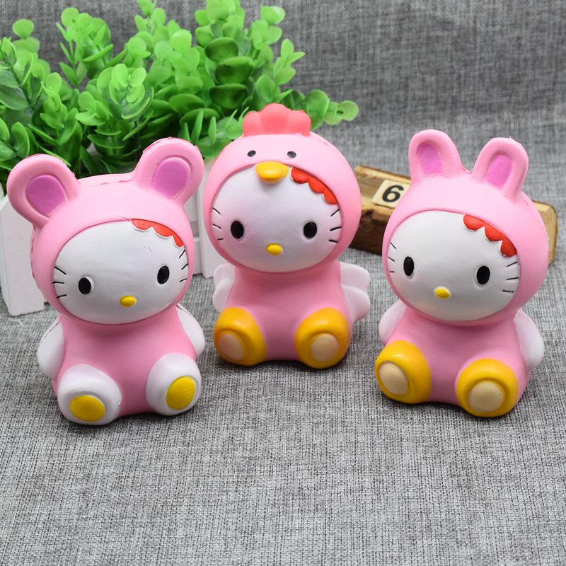 Hello Kitty Toys For Cakes : Pcs lot new squishy hello kitty cat charms bread cake