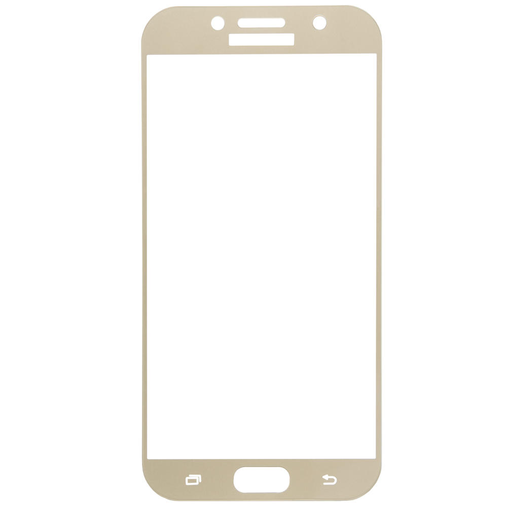 Protective glass Red Line for Samsung Galaxy A7 (2017) Full screen gold