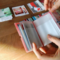 Women's Credit Card holder Wallet Women Lady Female Business Card Holder Case Bag bank ID card Holder 32p Cute Mini Card Book