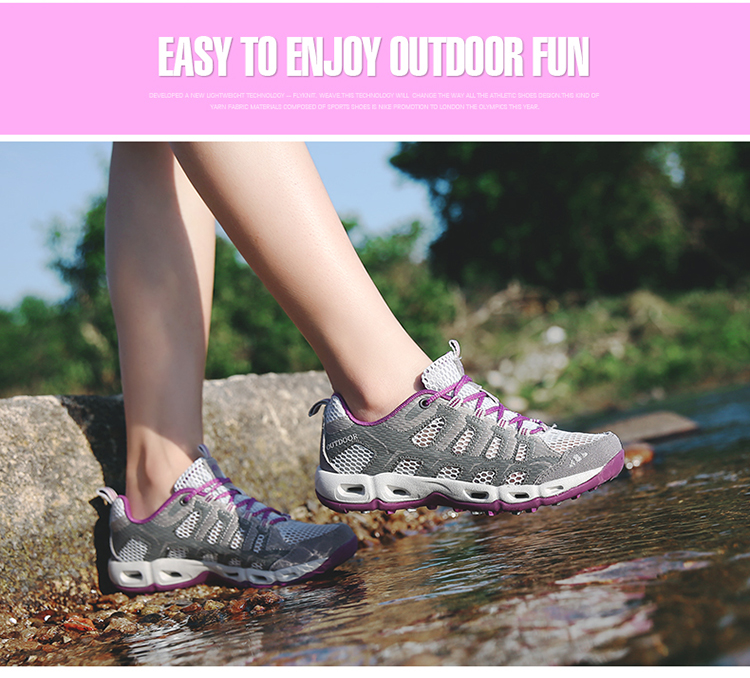 New 2017 Summer Unisex Aqua Shoes Air Mesh Clorts Outdoor Shoes Women Sneakers Lace Up Breathable Hiking Shoes Size 35-44 V1 (36)