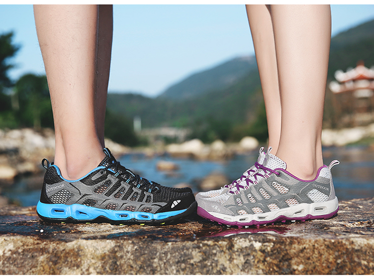 New 2017 Summer Unisex Aqua Shoes Air Mesh Clorts Outdoor Shoes Women Sneakers Lace Up Breathable Hiking Shoes Size 35-44 V1 (32)