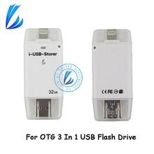 LL трейдера для iPad Android PC iphone usb флэш-накопитель OTG 128 ГБ Pen Drive Key флешки мини usb flash диск IOS памяти usbstick
