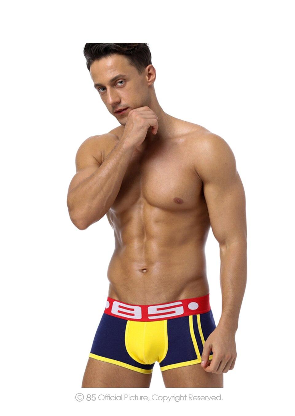 Herren-unterwäsche Marke Sexy Männer Unterwäsche Herren Boxer Trunks Homosexuell Penis Beutel Hause Nachtwäsche Hohe Qualität Männer Unterwäsche Boxer Kurze Cuecas Bs70 Boxer