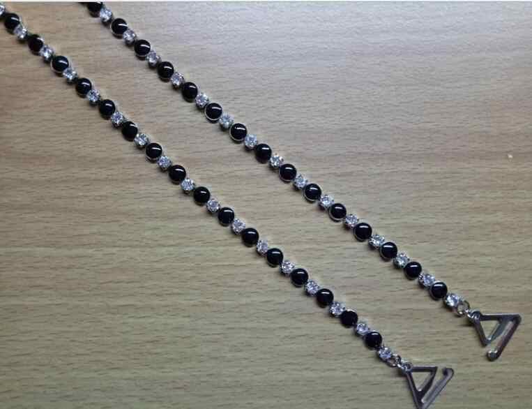 New metal rhinestone underwear bra straps dress accessories peach heart shoulder jewelry