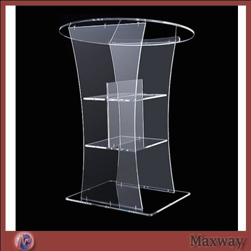 Hot Sell Clear Acrylic Lectern;Clear Church Pulpit;Modern Plexiglass Pulpit Plexiglass
