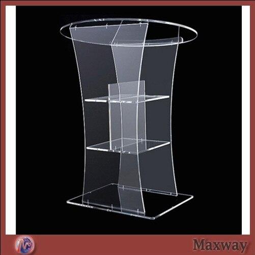 Hot Sell Clear Acrylic Lectern;Clear Church Pulpit;Modern Plexiglass Pulpit Plexiglass