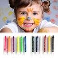 Rosto Corpo Pintura Crayon 6 Cores Kit Conjunto Pintura Varas Varas de Casamento Festa de Crianças Crianças Aprendizagem Brinquedos de Desenho