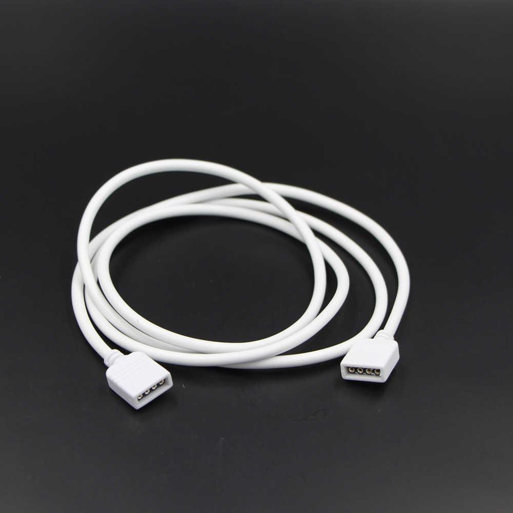 4-контактный разъем для разноцветных светодиодов кабель-удлинитель шнура провода + 4pin разъемы, 1 м, 2 м, 5 м 30 см для SMD 5050 3528 RGB Светодиодные ленты света