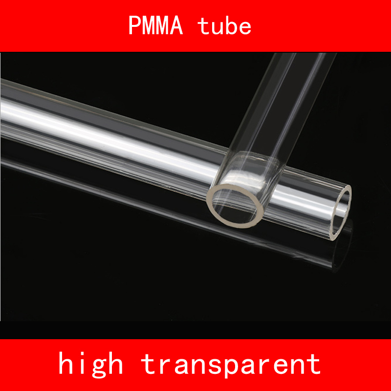 length 200mm Acrylic Clear PMMA Plastic high transparent tube smooth surface Various specifications