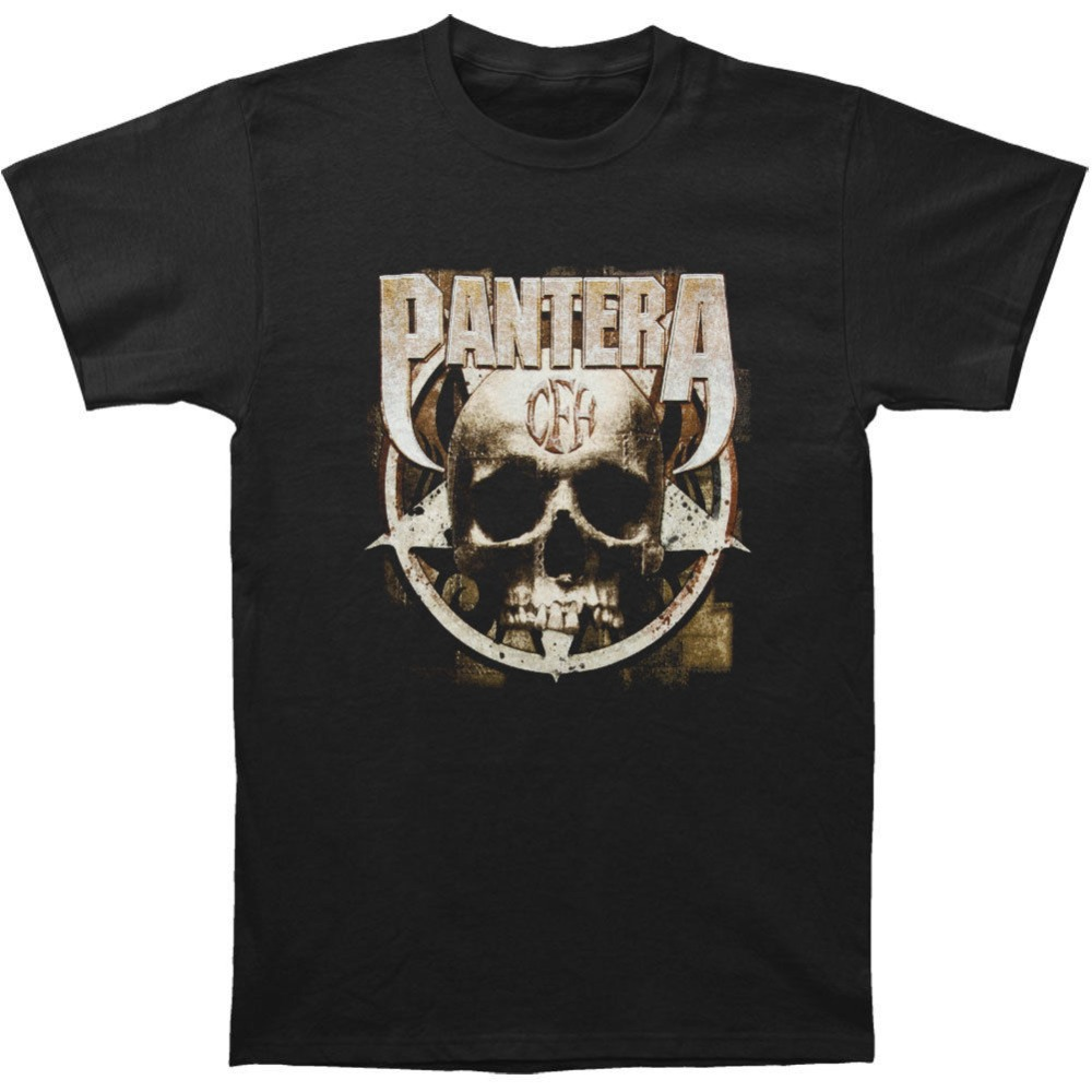 100% Cotton Summer T Shirt O-Neck Men Short Sleeve Best Friend Pantera MenS Cow Boys From Hell Shirts