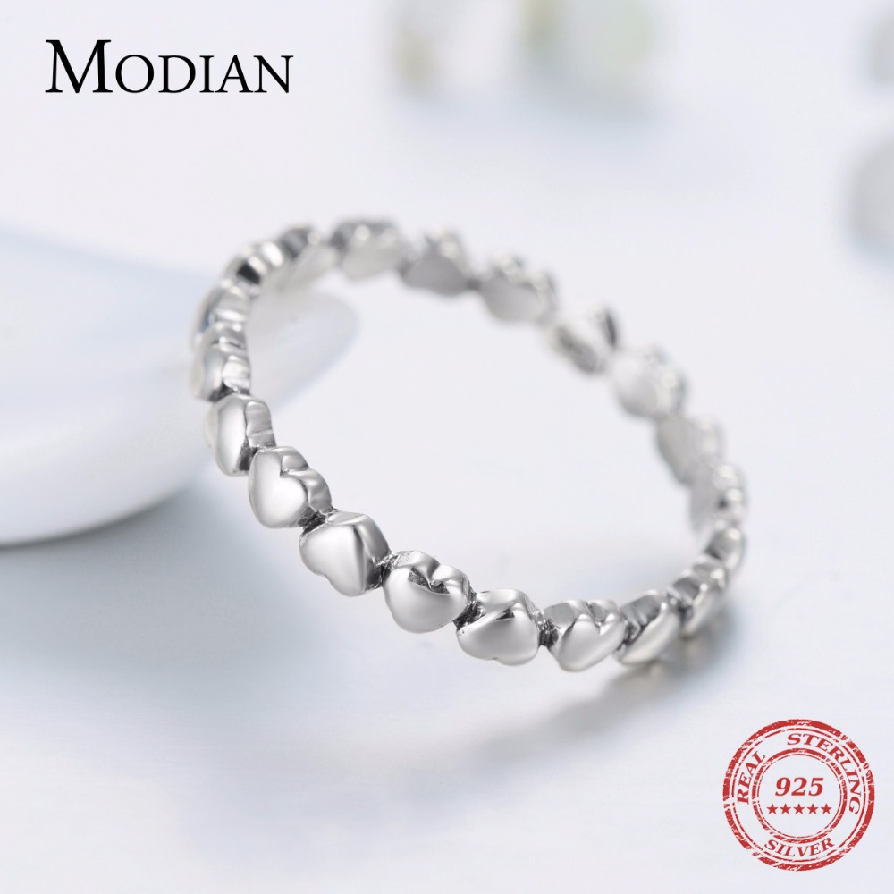 Hot Otentik Asli Mode 100% Padat 925 Sterling Silver Jantung Cincin - Perhiasan fashion - Foto 4