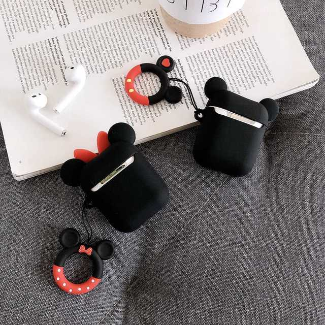 For AirPods Case Cute 3D Cartoon Pattern Earphone Case For Apple Airpods 2 Soft Silicone