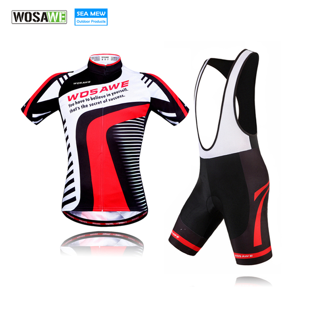 51bba68b3 WOSAWE Summer new Mens retro MTB cycling jersey sets Short sleeve bicycle  jerseys kit bib clothing downhill jersey Clothes