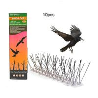 Stainless Steel Bird Spikes Bird Deterrent Kit With Transparent Silicone Glue Durable Easy Install Without Maintenance Required