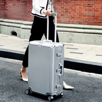 REISE TALE NEUE spinner aluminium rahmen hardside reise koffer auf rad 26