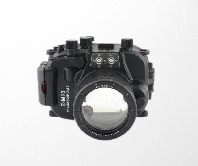 Meikon Waterproof Underwater Housing Camera Diving Case for Olympus EM10 E-M10 12-40mm lens