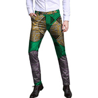Personal Tailor Men Long Pants African Trousers Fashion Print Cotton Fabric Design Dashiki Clothes Customized Africa