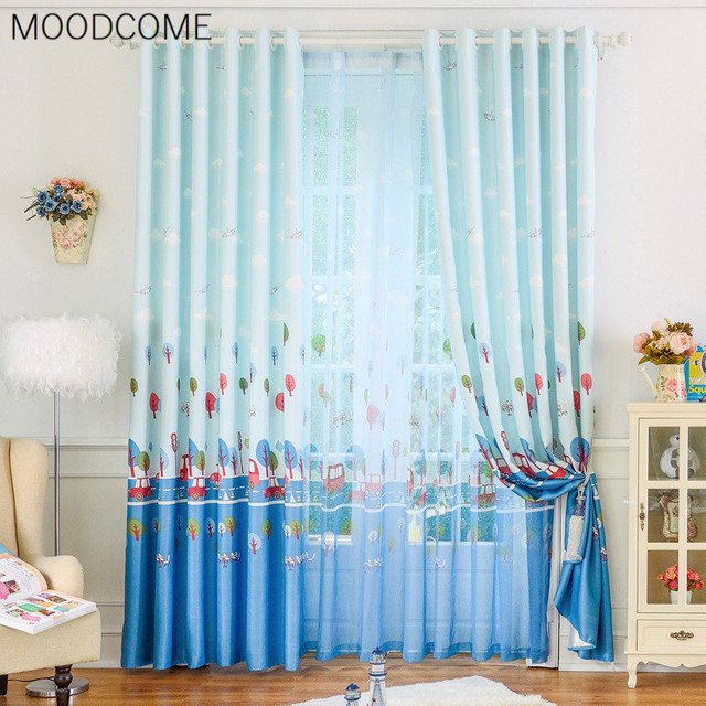 Cartoon Car Design Curtain Curtains For Living Dining Room Bedroom