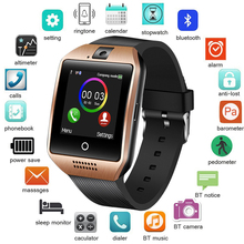 LIGE 2019 New Ladies Men Smart Watch Sports Pedometer LED Color Large Touch Screen SmartWatch Music Player Supports TF SIMcard