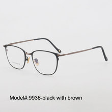 9936 new arrived twocolor plating  pure titanium full rim cat eye optical frame myopia prescription eyewear eyeglasses