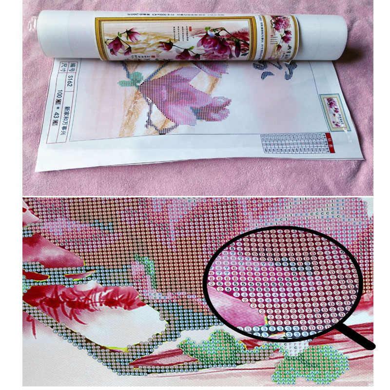 5d sơn kim cương Hoa Poppy hoa phong lan hướng dương Tăng đầy kim cương vuông thêu Cross stitch thạch trang trí