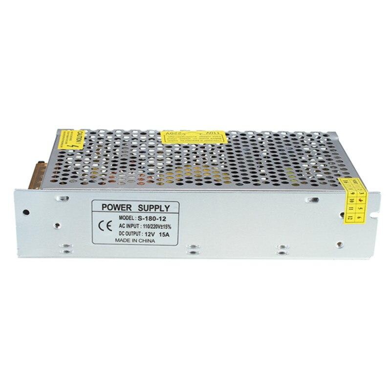 12 V 15A 180 W Schalt Netzteil LED Dual-eingang 3D Drucker Überwachung Kamera Power