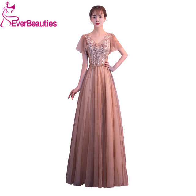 b42674e45b Aliexpress.com : Buy Evening Dress Long Tulle Appliques Beaded Evening  Party Gowns Robe De Soiree Longue Woman Dress Elegant Evening from Reliable  ...