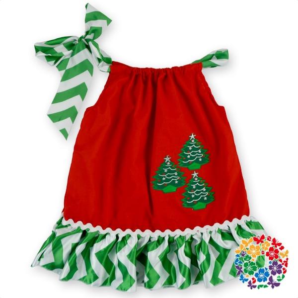 dbb0f34010db 24 PCS/LOT Wholesale Smocked Clothing Christmas Red Xmas Sock Print Ribbon  Tie Girls Dresses Girl Party Dress for 2 Years