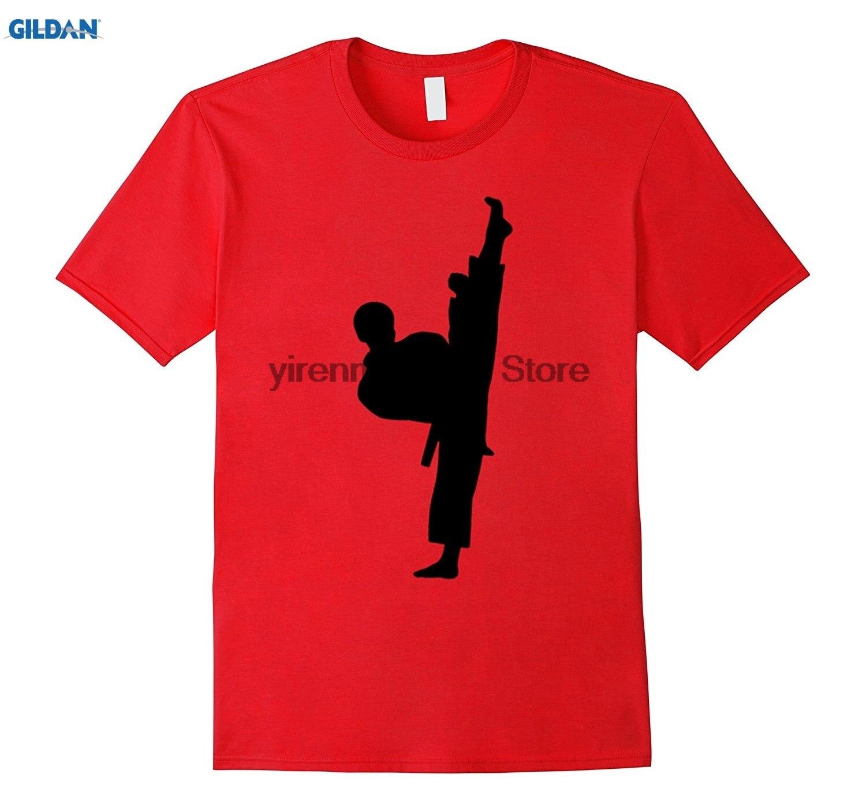 Возьмите 100% хлопок o-образным вырезом печатных T-Shirt TaeKwonDo или каратэ футболки для мальчиков Дети женщина кунг-фу