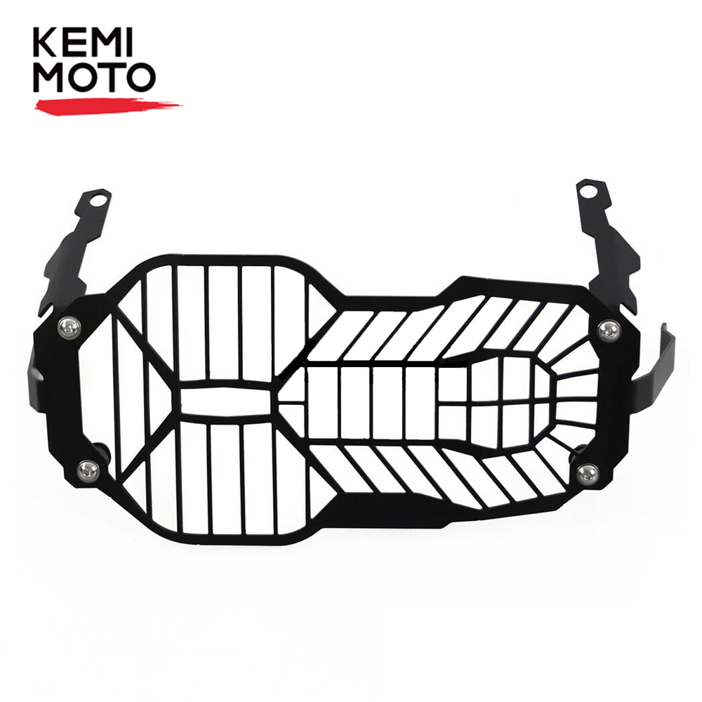 KEMiMOTO for <font><b>BMW</b></font> <font><b>R1200GS</b></font> Adv <font><b>Adventure</b></font> Headlight Protector Guard Grille Grill Cover R 1200 GS 2012 <font><b>2013</b></font> 2014 2015 2016 2017 <font><b>2018</b></font> image