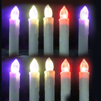 10pcs Set Party Wedding Candle Lamp Led Electric Flameless Candle 12 Color Change With Remote Control