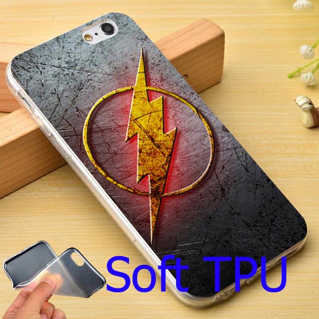 Flash  TV Series Black Phone Case for iPhone 5S 5 SE 5C 4 4S 6 6S 7 Plus