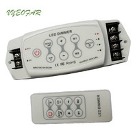New BC 311RF LED Dimmer Controller 3 channel Output 8A*3CH RF remote Wireless PWM 5 24V DC For Led Single Color Strip use