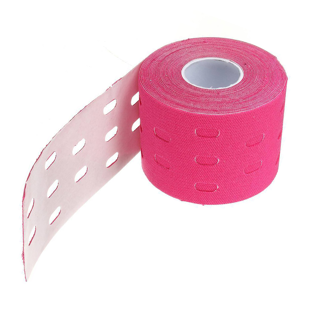 Горячая 1 рулон 5 м * 5 см кинезиологии мышцы Спорт Уход эластичный Врач Терапевтический Лента Цвет: розовый