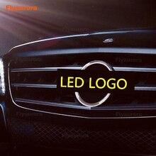 цена на Illuminated LED Light Front Grille Star Emblem Badge for Mercedes-Benz A B C E CLA GLA Class W212 W204 W211 W203 W204 C200 C180