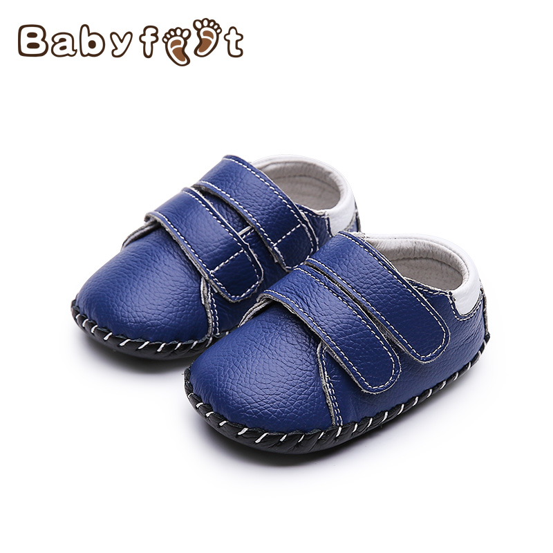 2017 New Arrival First Walkers Genuine Leather Infants Baby Soft Sole Non Skid Rubber Bottom For