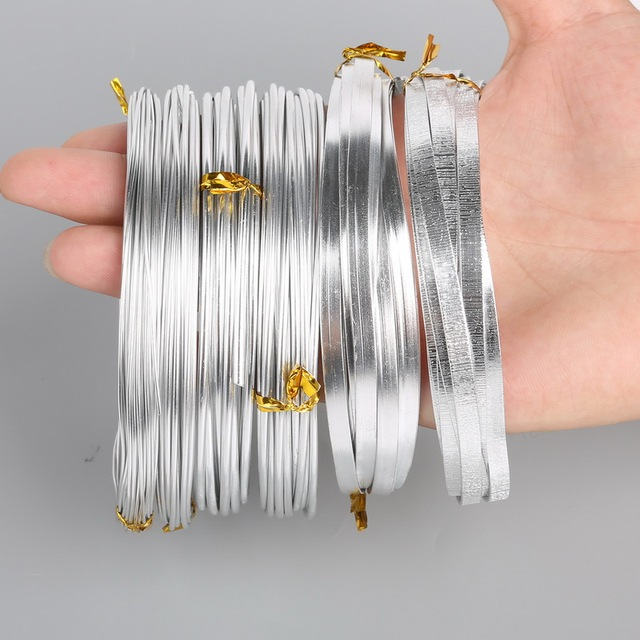 HOT Sale Silver Flat&Round aluminum Wire Soft Metal Floristry Wire ...