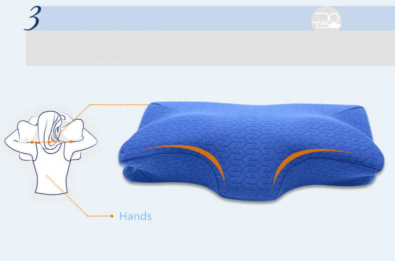 Image 4 - 60*32CM Orthopedic Latex Physiotherapy Pillow Slow Rebound Memory Foam Sleep Neck Pillow Cervical Health Pain Release Pillow-in Decorative Pillows from Home & Garden
