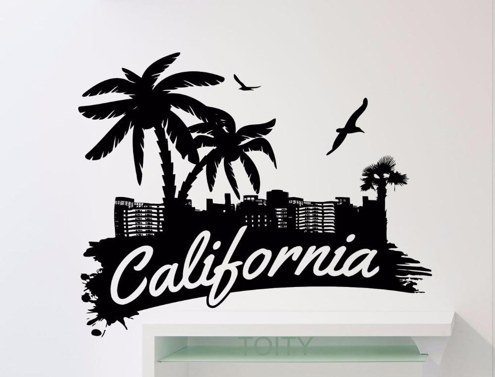 Buy california word logo wall sticker for Designers art of california