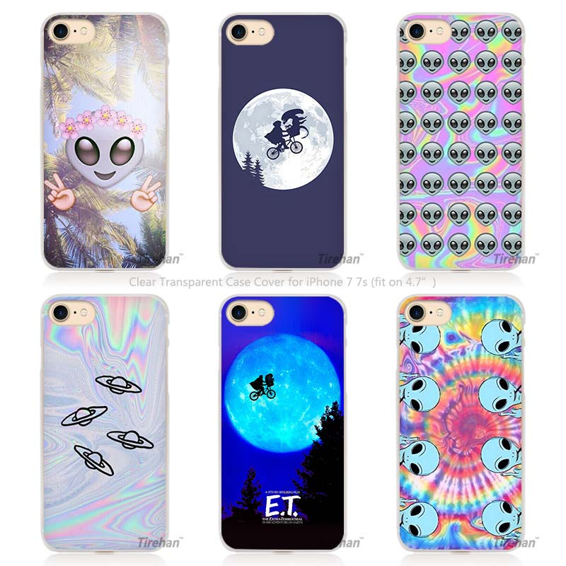 Hot sale ET E T the Extra Terrestrial Hard Transparent Phone Case Cover Coque for Apple iPhone 4 4s 5 5s SE 5C 6 6s 7 Plus