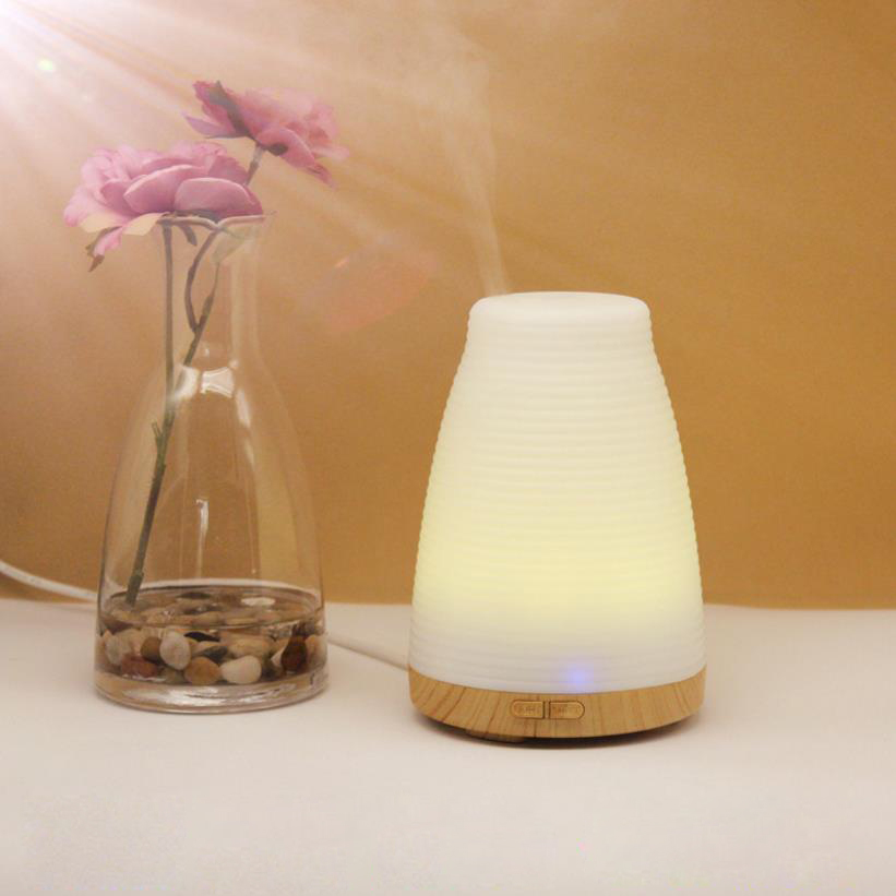 Ultrasonic Aromatherapy Humidifier Essential Oil Diffuser 7 Colors Changing Light Mist Maker Fogger 2017 new cute bowling shape 7 colors led light air ultrasonic humidifier essential oil diffuser 150ml mist maker fogger dc 5v