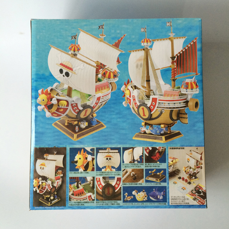 Big Anime Figure ONE PIECE Ship Thousand Sunny Going Merry Pirate Boat Puzzle Assemble Model Toy Building Blocks 1