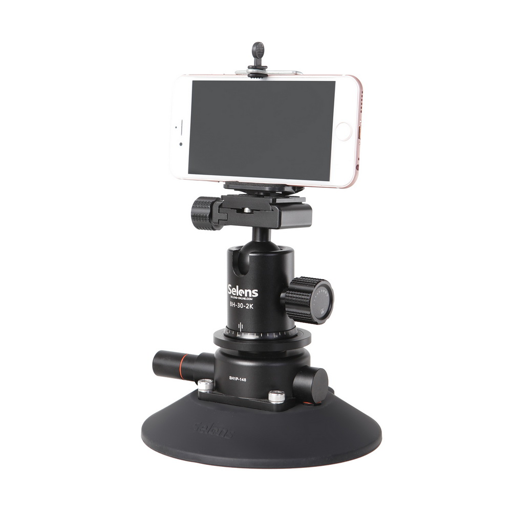 Image 5 - Selens SH1P 148 Powr Grip 5.9 Inch Vacuum Suction Cup Camera Mount System for DSLR Camera, Video, Smart Phone & Gopro-in Sports Camcorder Cases from Consumer Electronics