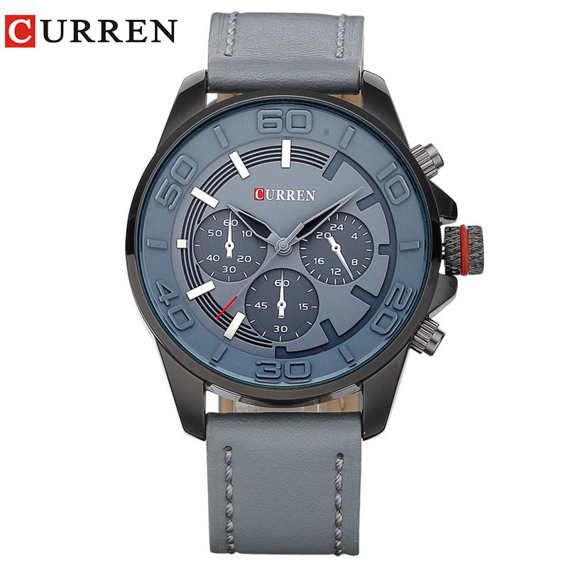 Curren new fashion brand design business men clock casual leather luxury wrist quartz army sport watch 8187 genuine curren brand design leather military men cool fashion clock sport male gift wrist quartz business water resistant watch