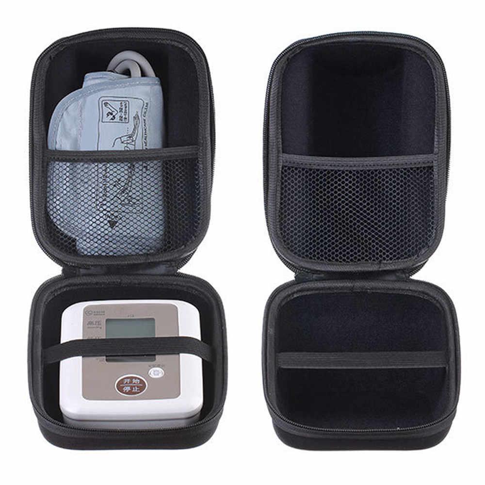 Estuche rígido a prueba de golpes con correa para la muñeca y bolsillo de malla de forro suave para la presión arterial Digital de Omron M6 M7