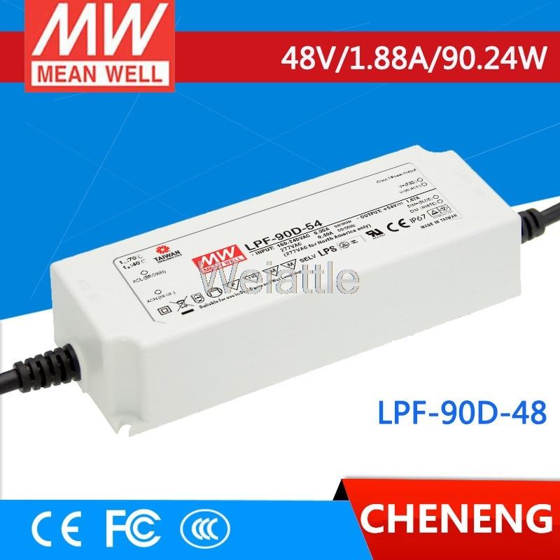цена MEAN WELL original LPF-90D-48 48V 1.88A meanwell LPF-90D 48V 90.24W Single Output LED Switching Power Supply онлайн в 2017 году