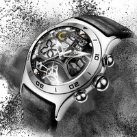 Reef Tiger Mens Watches Mechanical Leather Business Automatic Watches Top Luxury Waterproof Watch Men relogio masculino RGA703Y