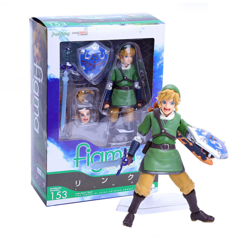 Zelda Figure 14cm Anime Legend of Zelda Link with Skyward Sword PVC Action Figure Collection Model Toy Brinquedos With Box [pcmos] 2017 anime the legend of zelda link bring sword shield shaped metal pendant fans collection gift 16032630