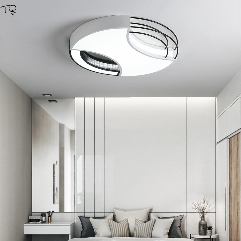 Round Led Ceiling Light for Home Bedroom Bedside Bathroom Kitchen Living Room Study Simple Modern Art Indoor Lighting Luminaria in Ceiling Lights from Lights Lighting