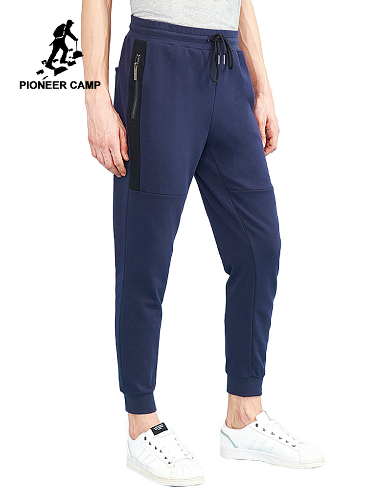 Pioneer camp summer thin sweatpants men famous brand casual soft men pants top quality cotton joggers male dark blue AZZ801230